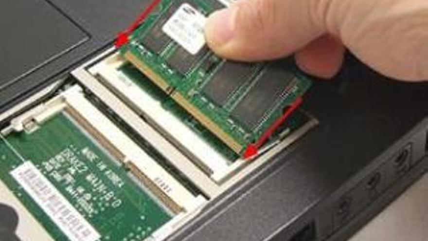 ranuras modulos ram portatiles