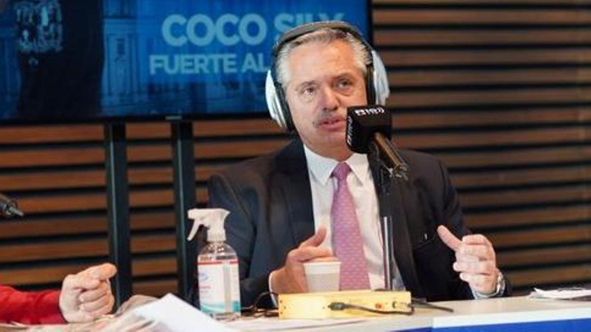 Alberto Fernández estuvo en Radio 10