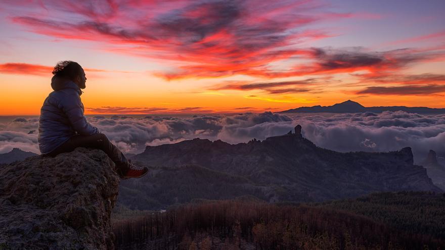 Espectacular imagen del Roque Nublo.