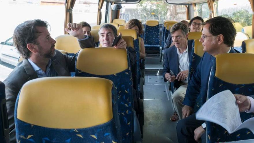 Imagen de la reciente visita del presidente Clavijo a Icod de los Vinos, el 27 de julio pasado