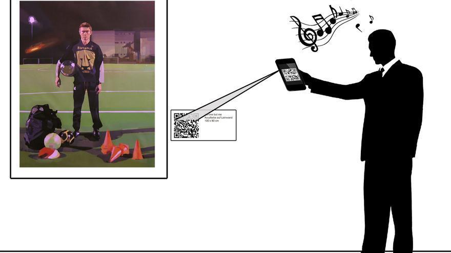 Un ejemplo de cómo funciona la exposición del palmero Rubén Sánchez.