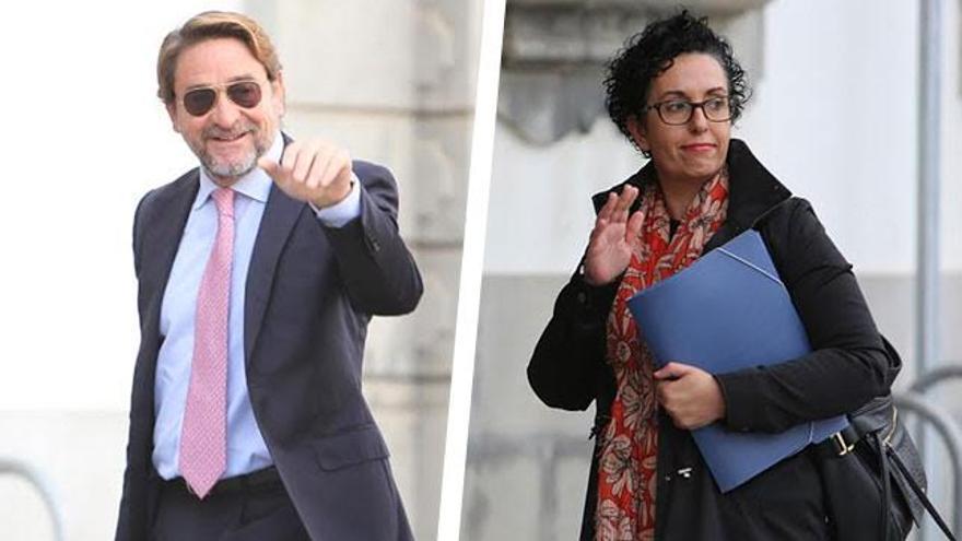 El juez Salvador Alba y la fiscala Evangelina Ríos.