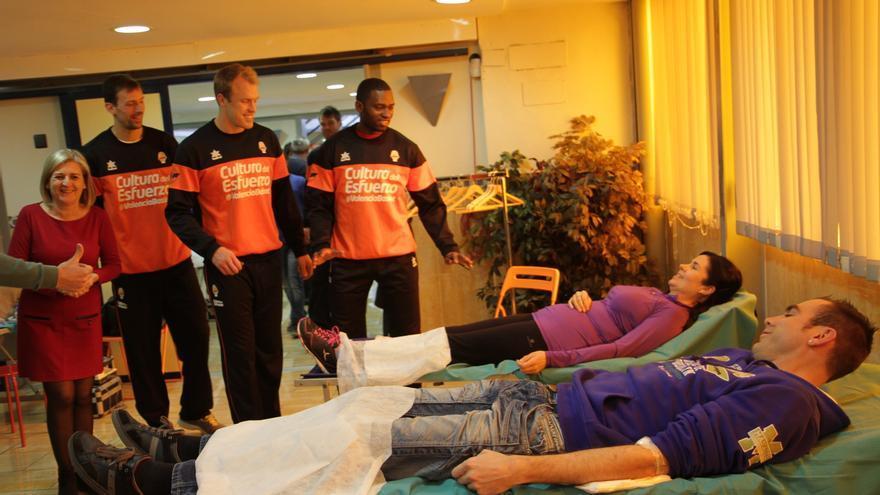 Donació de sang amb col·laboració del València Basket.