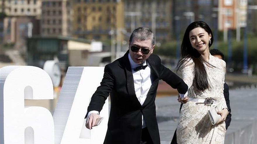 El director Feng Xiaogang y la actriz Fan BingBing, en el Festival de San Sebastián