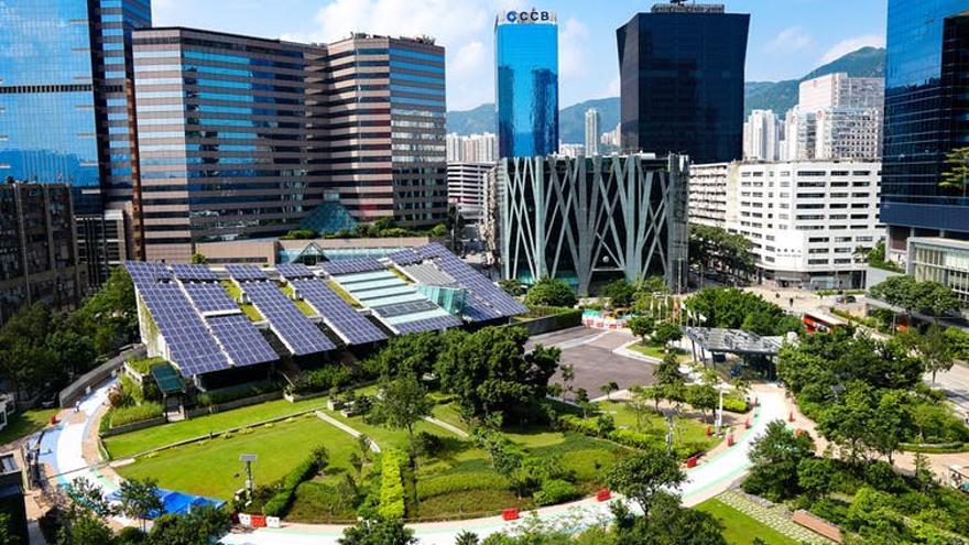 Imagen de un entorno urbano sostenible.