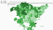 MAPA | Los resultados del 12J en Euskadi, municipio a municipio