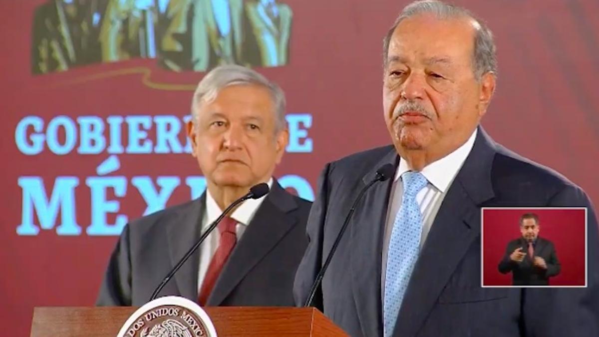 Carlos Slim y Andrés Manuel López Obrador en una de sus tantas reuniones