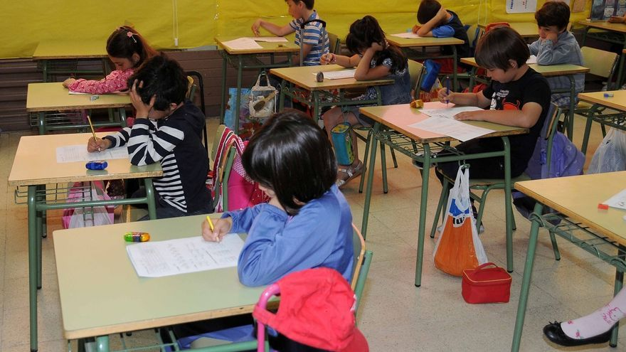 Alumnos de Primaria durante una clase.