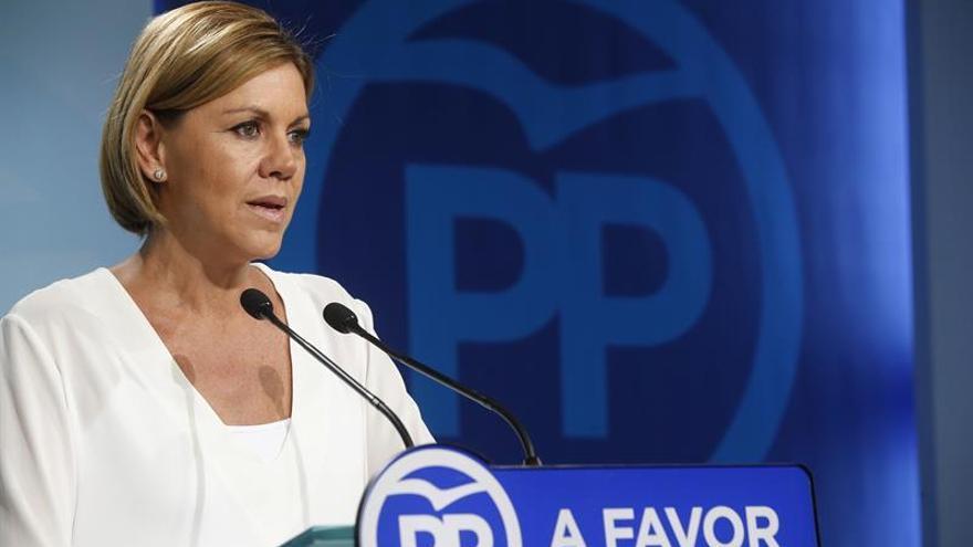 Cospedal: el apoyo al PSOE en CLM podría ayudar a desbloquear la situación de España