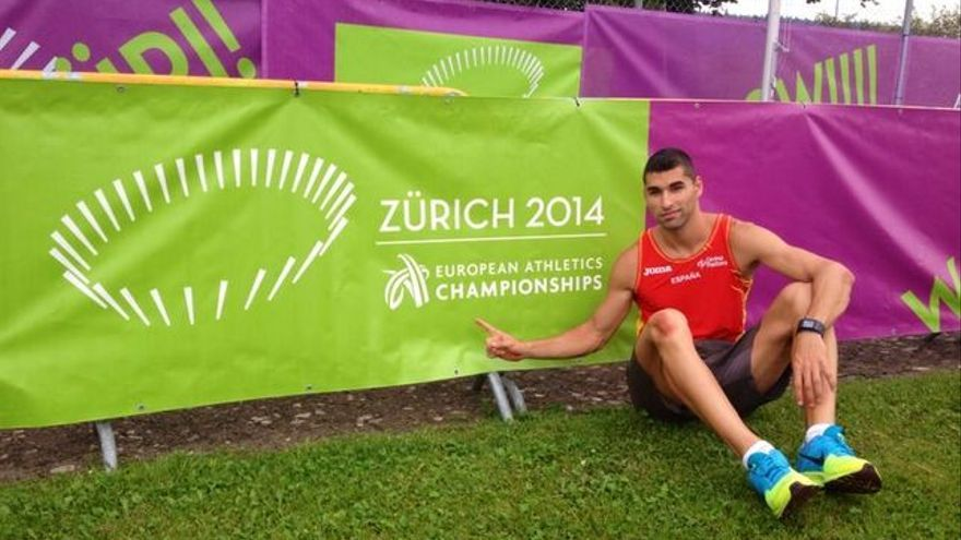 En la imagen, Samuel García en el Campeonato Europeo celebrado en Zúrich.