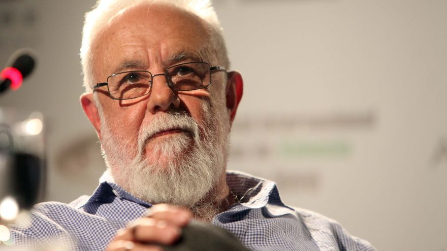Gonzalo Suárez, durante un encuentro en la edición número 29 del Festival Cinema Jove