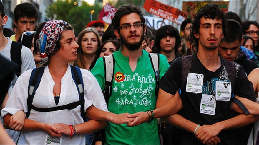 Manifestación de la 'Marea verde' en Madrid en mayo de 2012. Foto del Flickr de Popicinio.