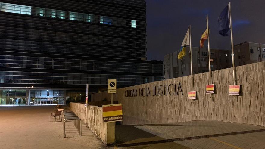 Entrada a la Ciudad de la Justicia.