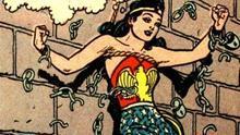 Wonder Woman en una de sus aventuras en viñetas