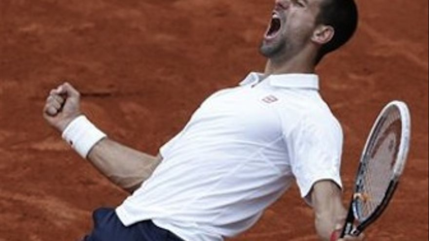 Djokovic celebra el punto definitivo. (Europa Press)