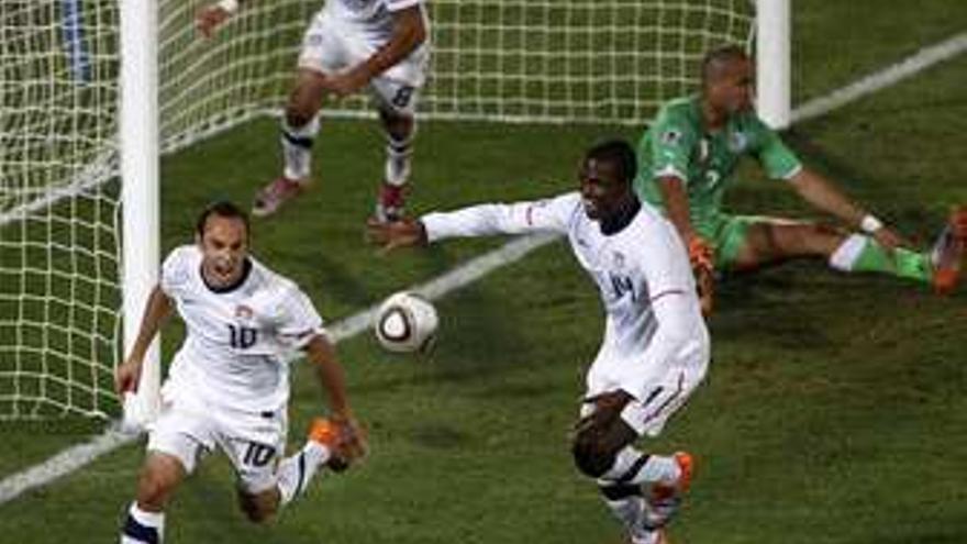 EEUU celebra el gol. (EP)