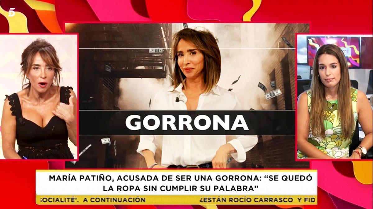 María Patiño, enfadada en 'Socialité'