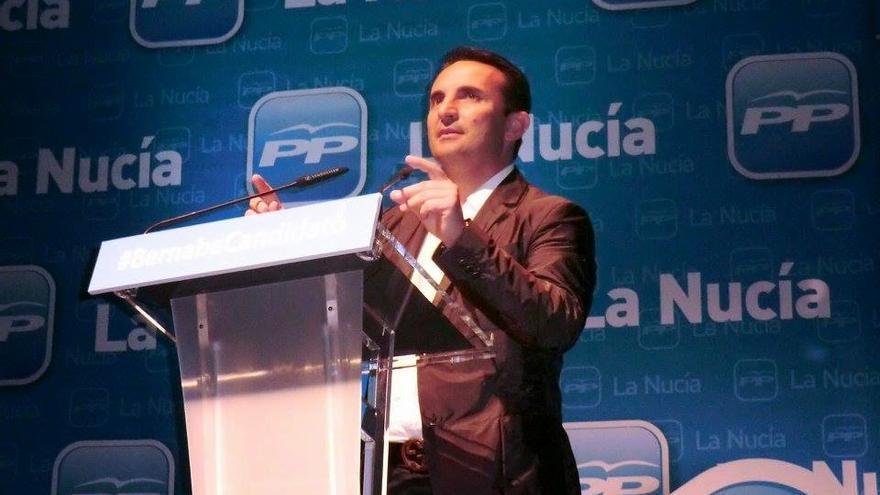 El alcalde de La Nucía y responsable de obras en los municipios de la Diputación de Alicante, el popular Bernabé Cano