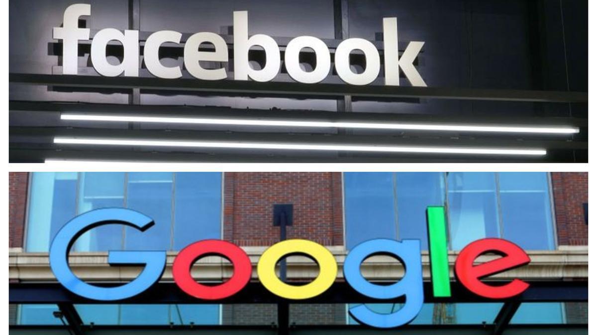 Logos de Facebook y Google