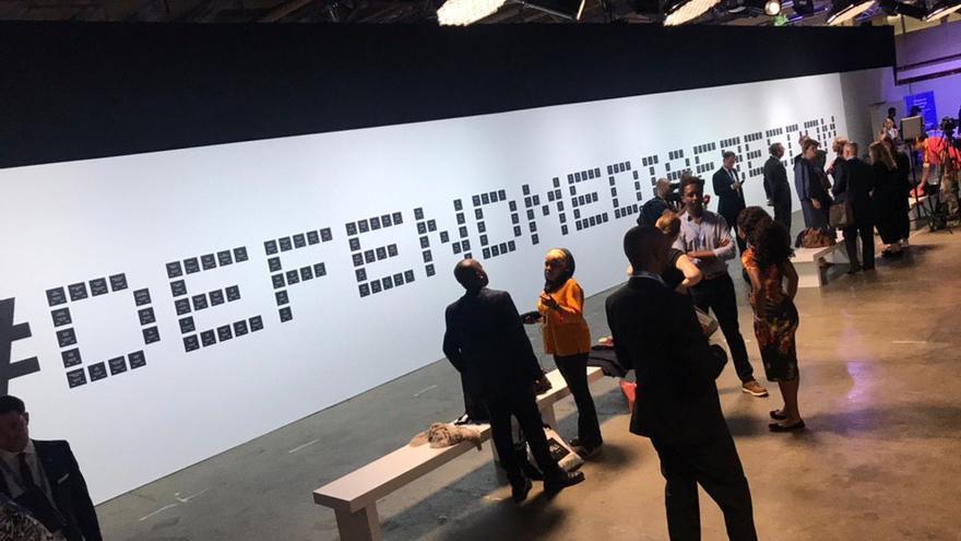 Imagen de la conferencia por la libertad de prensa organizada en Londres por Reino Unido y Canadá.