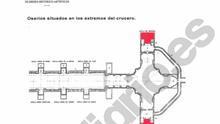 Parte del informe de Patrimonio sobre el estado de los osarios del Valle de los Caídos