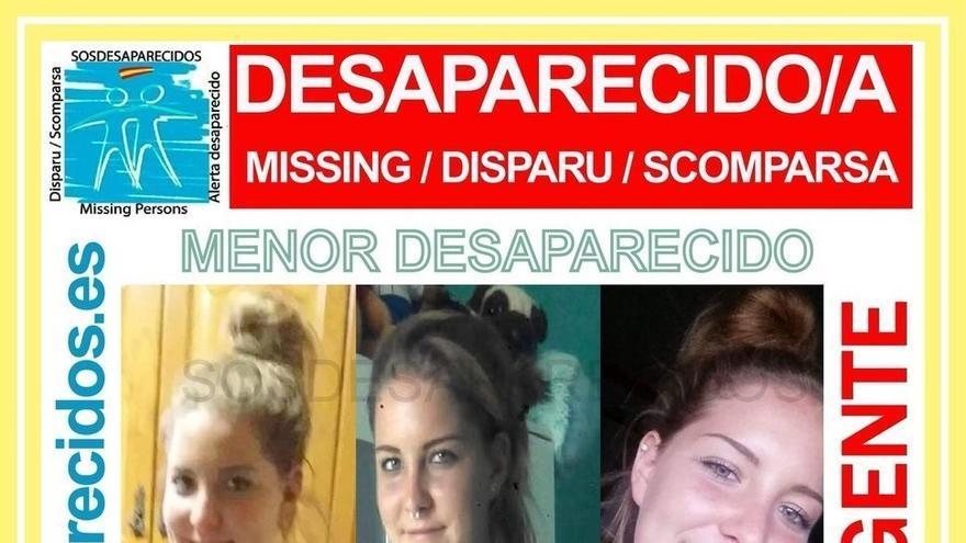 Cartel difundido en Twitter por Sosdesaparecidos