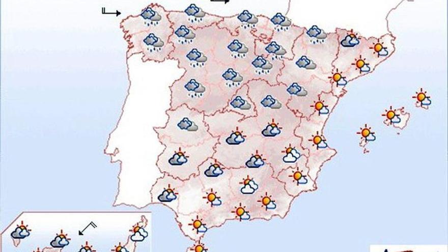 Mañana arrecia el viento en los litorales de Galicia y el Cantábrico