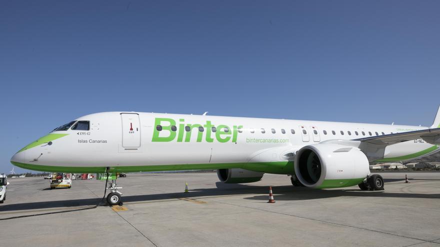 Imagen de archivo de un avión de Binter.