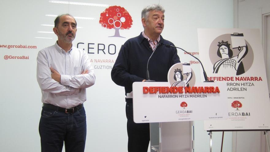 "Koldo Martínez dice que ""cada voto a Geroa Bai va a defender Navarra"""