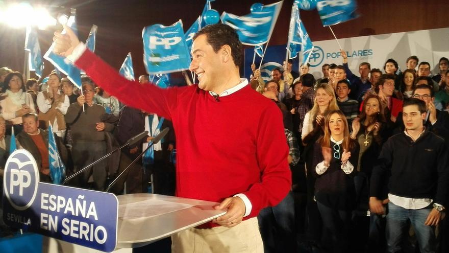 """Moreno cierra campaña pidiendo a los indecisos que piensen en España y en que Rajoy da """"la talla"""""""