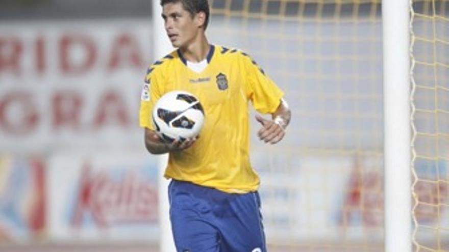 Sergio Suárez anote el único tanto de la eliminatoria. (udlaspalmas.es)