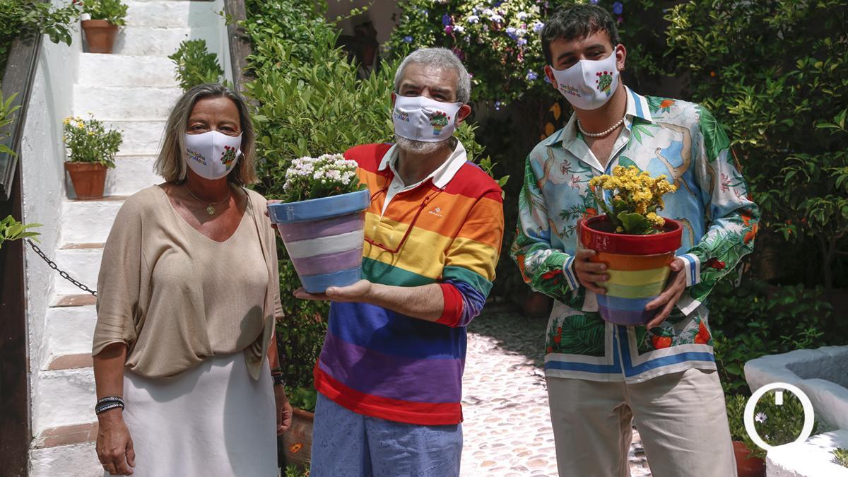 Los diseñadores Lorenzo Caprile y Palomo Spain participaron en un Patio de Córdoba en un acto por el Orgullo