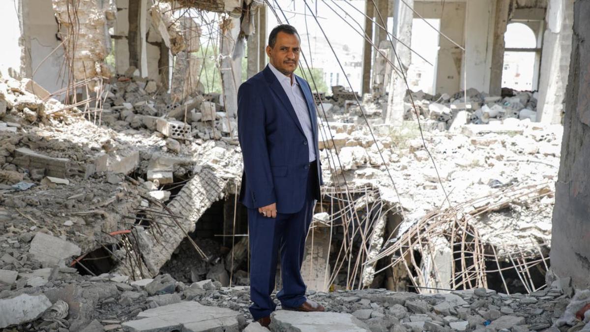 Ameen Hussain Jubran, jefe y fundador de la ONG yemení Jeel Albena, en la ciudad de Saná.
