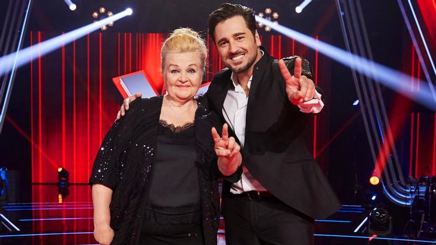 Naida Abanovich y David Bustamante, ganadores de 'La Voz Senior'