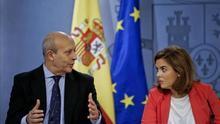 El ministro José Ignacio Wert y la vicepresidenta Soraya Sáenz de Santamaría.