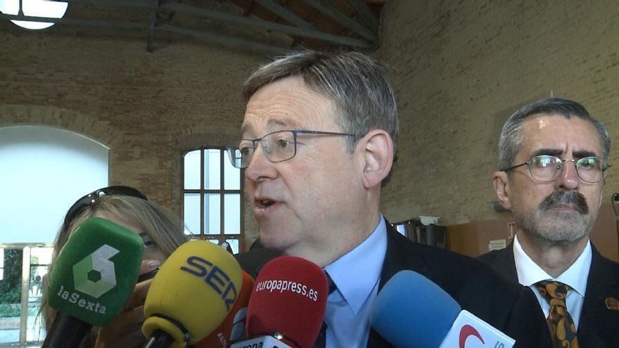 """Puig ve """"absolutamente respetable"""" la opinión de Sánchez pero no quiere que sea otro el que marque la agenda valenciana"""