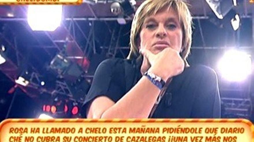 Rosa Benito a Chelo: 'A ti no te queda más remedio que estar en Sálvame'