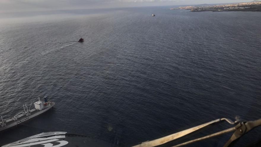 Vertido ocasionado tras el accidente del ferry de Naviera Armas