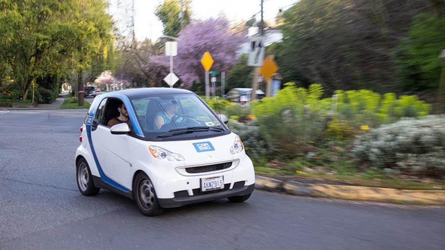 Los coches eléctricos de la plataforma Car2Go, propiedad de Daimler