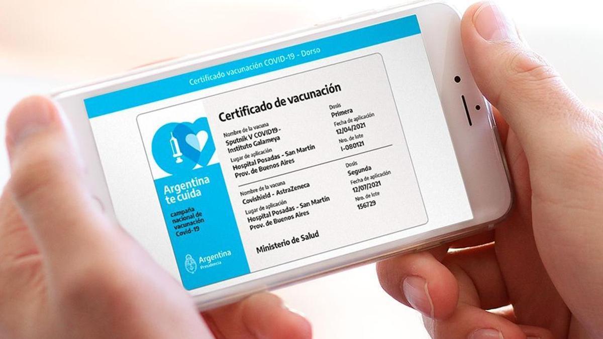 El certificado oficial puede descargarse en la aplicación Mi Argentina.