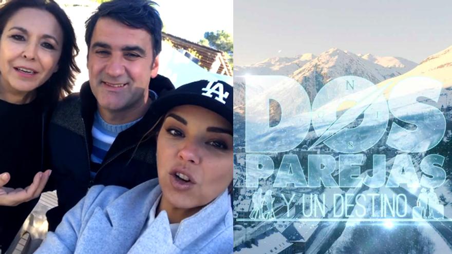 Chenoa y Jesulín graban 'Dos parejas y un destino' para La 1 en Ibiza