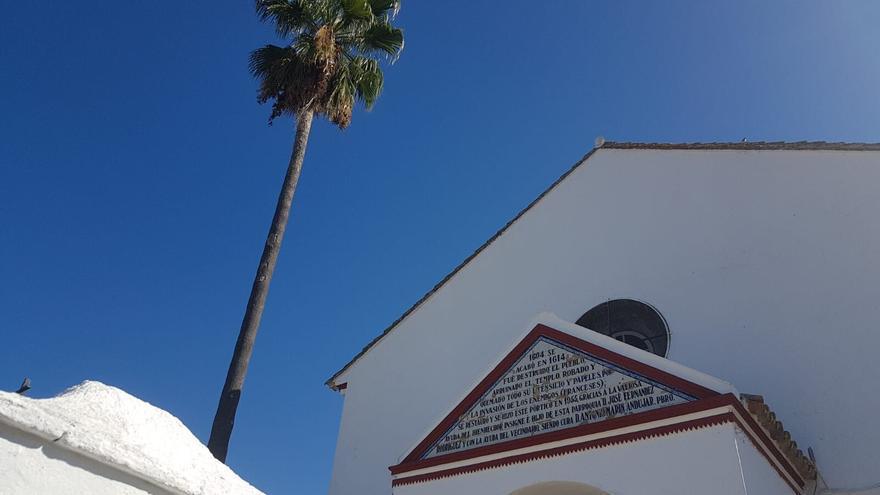Pórtico de la Iglesia de El Garrobo /Foto: C.S.