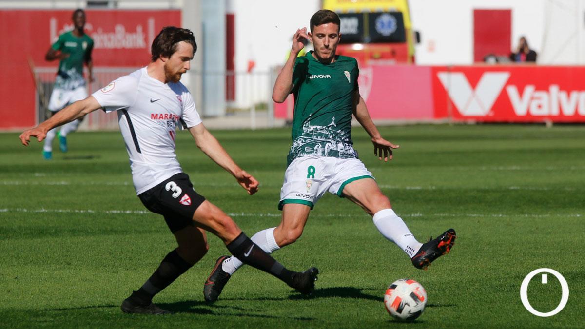 Ródenas, en su debut ante el Sevilla Atlético.