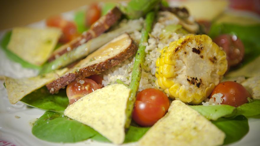 El Rayén Vegano cambia continuamente su oferta con platos elaborados y originales. Foto: El Rayén Vegano