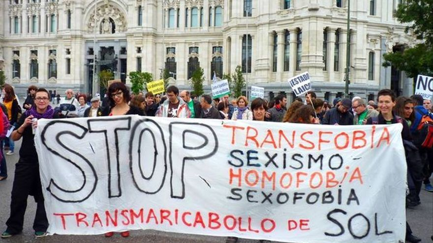 Protesta contra la homofobia.