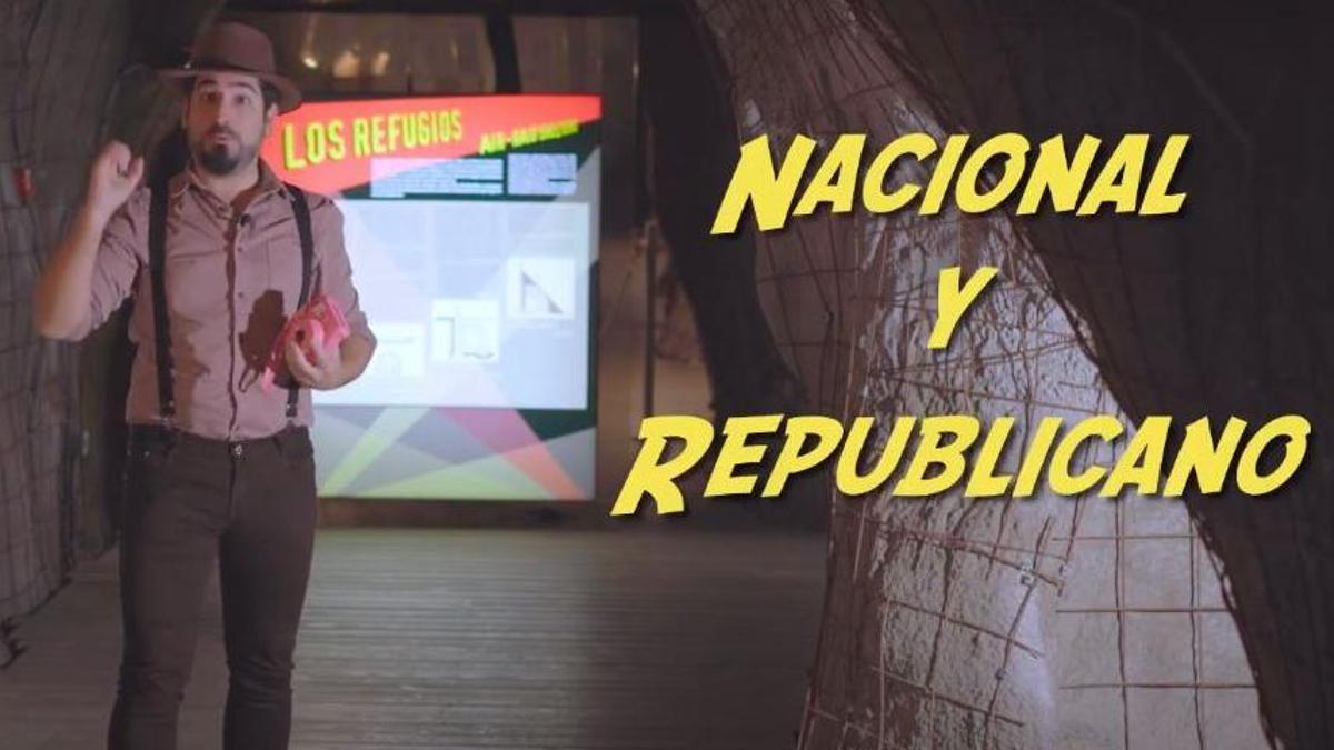 Captura del vídeo sobre la Guerra Civil publicado por Puerto de Culturas