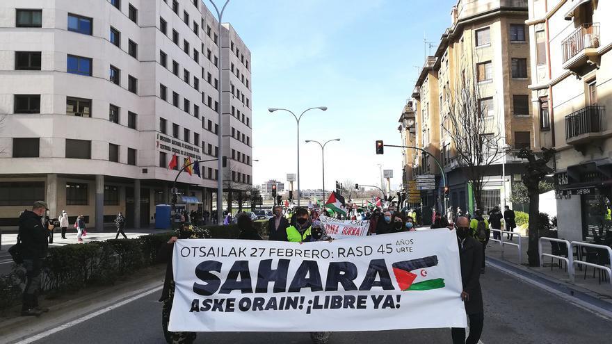 Manifestación en apoyo del pueblo saharaui y para reivindicar la liberta del Sáhara