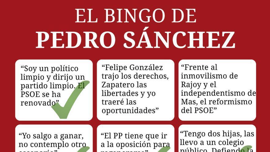 Bingo de Pedro Sánchez