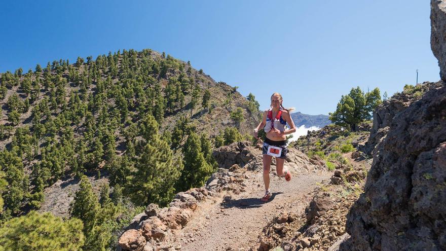 Ida Nilsson, ganadora de la ultramaratón de la Transvulcania 2017. Foto: Transvulcania.