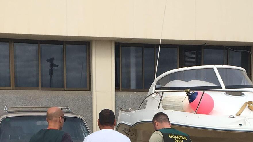 En la imagen, uno de los detenidos. Foto: GUARDIA CIVIL